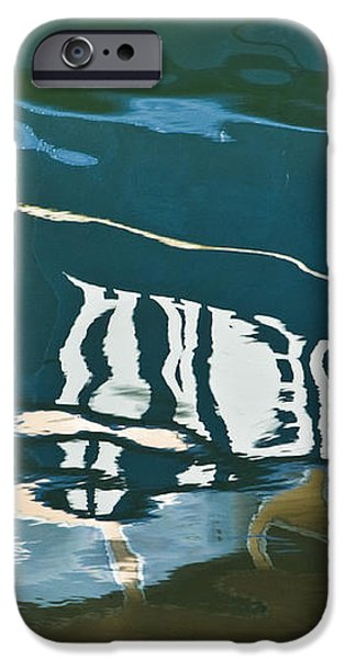 Abstract Boat Reflection iPhone Case by Dave Gordon