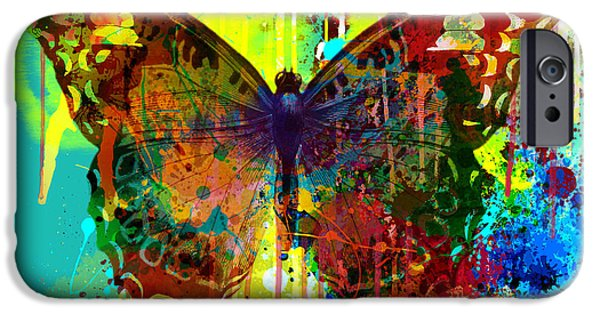 Recently Sold -  - Abstract Digital iPhone Cases - Abstract Butterfly iPhone Case by Gary Grayson