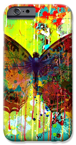 Abstract Butterfly iPhone Case by Gary Grayson