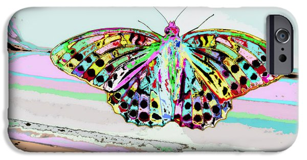 Window Of Life iPhone Cases - Abstract Butterfly iPhone Case by Marianna Mills