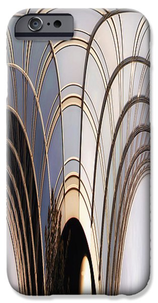 Sign iPhone Cases - Abstract Chicago Sunrays On Trump Tower iPhone Case by Thomas Woolworth