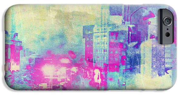 Beauty Mark iPhone Cases - Abstract City iPhone Case by Mark-Meir Paluksht