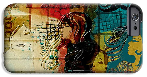 Abstract Fashion Art iPhone Cases - Abstract Collage 01 iPhone Case by Corporate Art Task Force