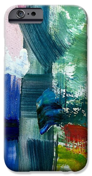 Abstract Color Relationships lll iPhone Case by Michelle Calkins