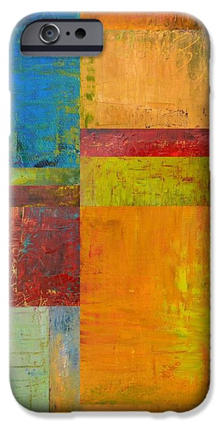 Abstract Color Study Collage ll iPhone Case by Michelle Calkins