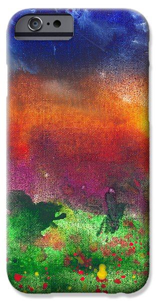 Abstract - Crayon - Utopia iPhone Case by Mike Savad