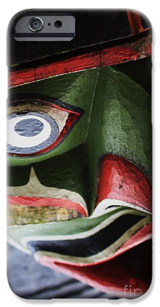 Person Sculptures iPhone Cases - Abstract Crazy Face iPhone Case by Sue Harper