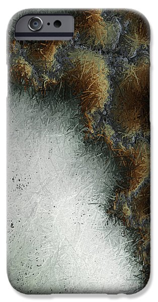 Christian Artwork Digital Art iPhone Cases - Abstract Cross I  iPhone Case by Heidi Smith