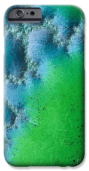 Christian Artwork Digital Art iPhone Cases - Abstract Cross Ill  iPhone Case by Heidi Smith