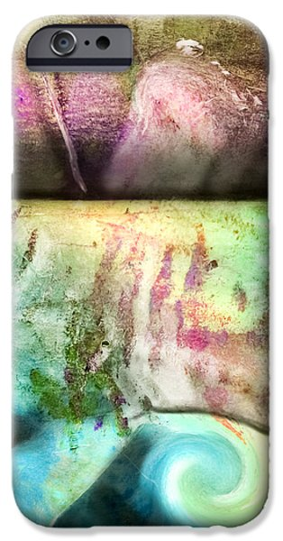 Pen And Ink iPhone Cases - Abstract Crunch iPhone Case by Laura L Leatherwood