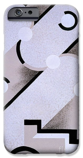 Color Drawings iPhone Cases - Abstract design from Nouvelles Compositions Decoratives iPhone Case by Serge Gladky