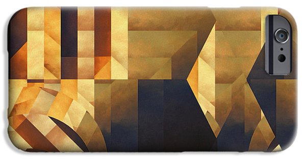 Reality iPhone Cases - Abstract Dimension iPhone Case by LC Bailey