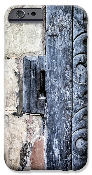 Ancient Scroll iPhone Cases - Abstract Door Pattern iPhone Case by Nomad Art And  Design