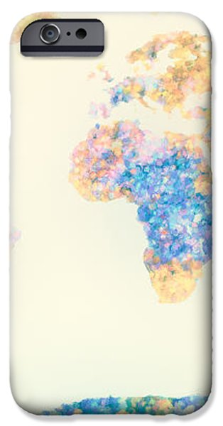 Abstract Earth Map 2 iPhone Case by Bob Orsillo