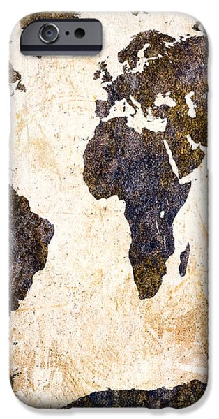 Abstract Earth Map iPhone Case by Bob Orsillo