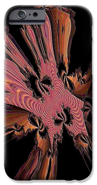 Abstract Digital iPhone Cases - Abstract Explosion iPhone Case by Jeff  Swan