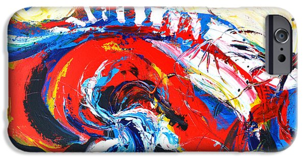 Abstract Expressionist iPhone Cases - Abstract Expressionism No. 2 iPhone Case by Patricia Awapara