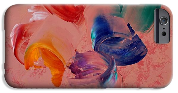 Abstract Expressionism Sculptures iPhone Cases - Abstract Expressionism iPhone Case by Sahib Nazar