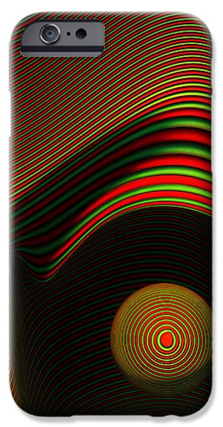 Forms Digital Art iPhone Cases - Abstract eye iPhone Case by Johan Swanepoel