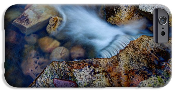 Hiking iPhone Cases - Abstract Falls iPhone Case by Chad Dutson