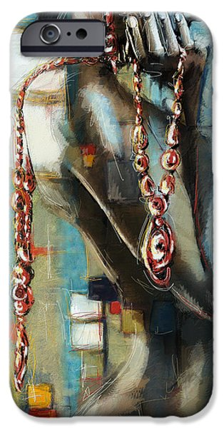 Multimedia iPhone Cases - Abstract figure work iPhone Case by Catf