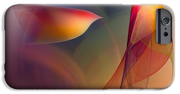 Poetic iPhone Cases - Abstract Fine Art Print Early in the Morning iPhone Case by Karin Kuhlmann