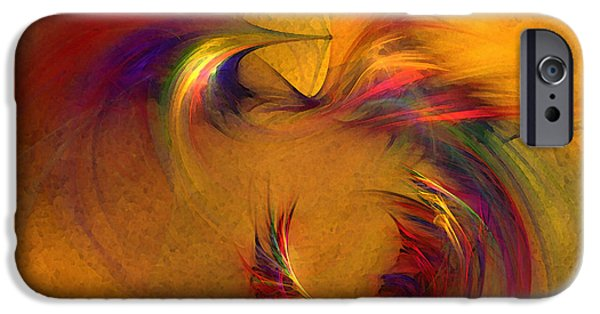 Poetic iPhone Cases - Abstract Fine Art Print High Spirits iPhone Case by Karin Kuhlmann