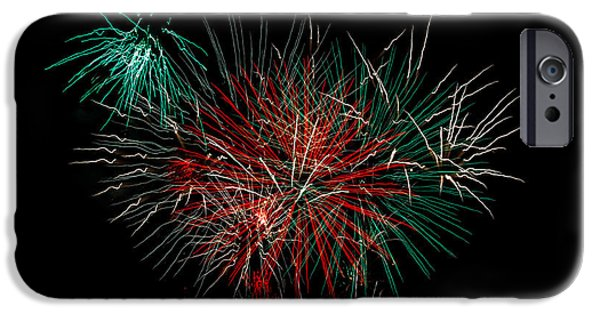 4th July Photographs iPhone Cases - Abstract Fireworks iPhone Case by Robert Bales