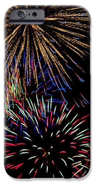 Abstract Firwoprks iPhone Case by Robert Bales