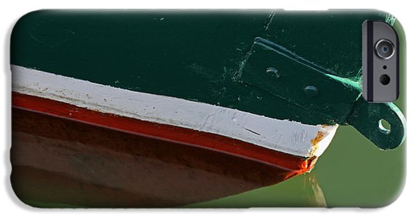 Harbor Sesuit Harbor iPhone Cases - Abstract Fishing Boat Bow iPhone Case by Juergen Roth