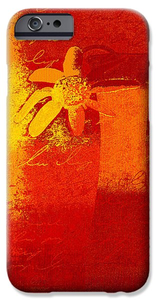Abstract Floral - 6at01a iPhone Case by Variance Collections