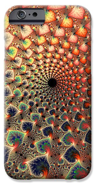 Abstract Digital Art iPhone Cases - Abstract floral fractal art tall and narrow iPhone Case by Matthias Hauser