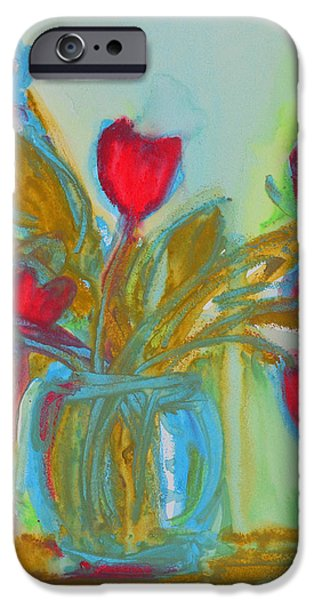 Abstract Flowers iPhone Case by Patricia Awapara