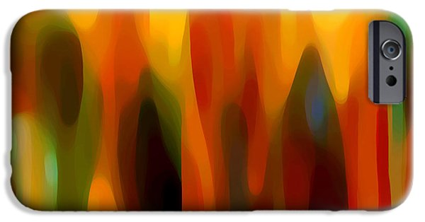Abstract Forms iPhone Cases - Abstract Forest iPhone Case by Amy Vangsgard