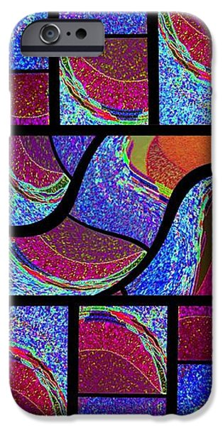 Abstract Digital Digital iPhone Cases - Abstract Fusion 168 iPhone Case by Will Borden