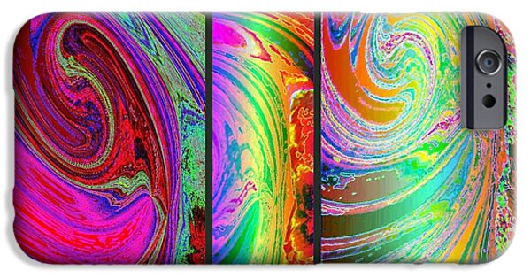 Abstract Fusion iPhone Cases - Abstract Fusion 184 iPhone Case by Will Borden