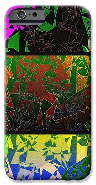 Abstract Digital Digital iPhone Cases - Abstract Fusion 193 iPhone Case by Will Borden