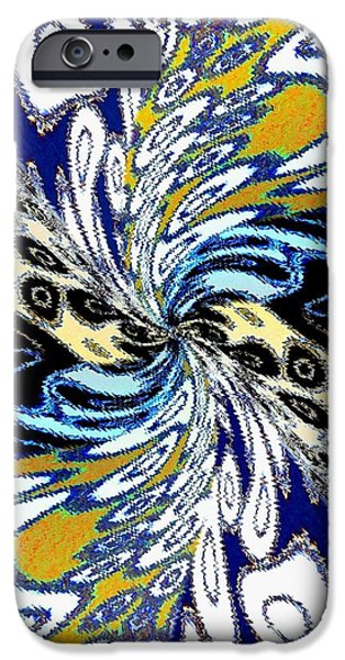 Abstract Fusion iPhone Cases - Abstract Fusion 198 iPhone Case by Will Borden