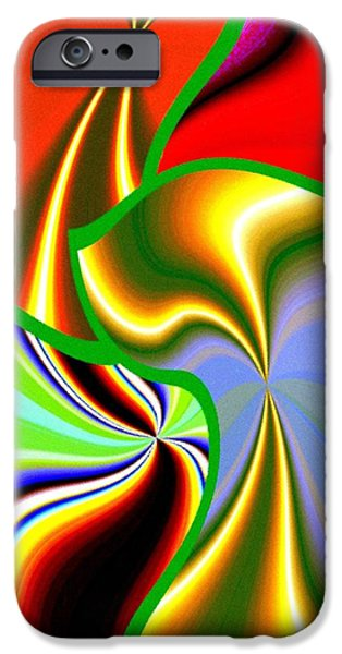 Abstract Fusion iPhone Cases - Abstract Fusion 200 iPhone Case by Will Borden