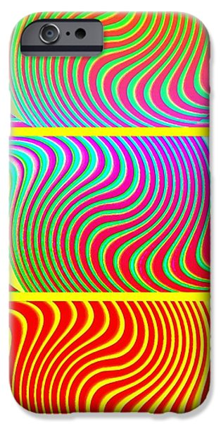 Abstract Fusion iPhone Cases - Abstract Fusion 205 iPhone Case by Will Borden