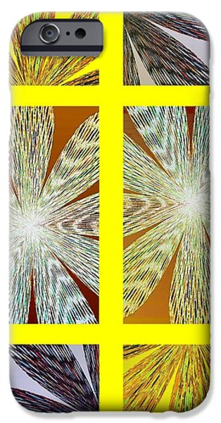 Abstract Fusion iPhone Cases - Abstract Fusion 216 iPhone Case by Will Borden