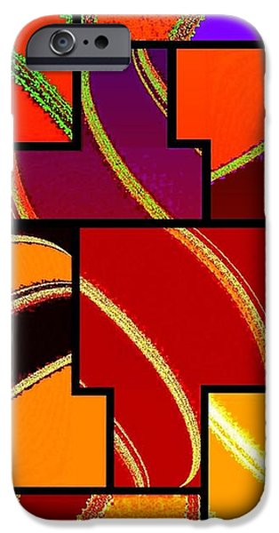 Abstract Fusion iPhone Cases - Abstract Fusion 232 iPhone Case by Will Borden