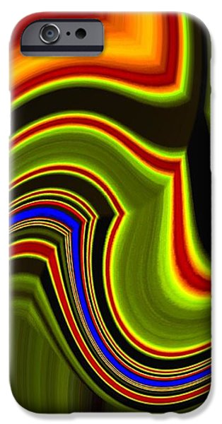 Abstract Fusion iPhone Cases - Abstract Fusion 234 iPhone Case by Will Borden