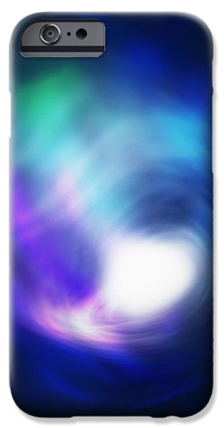 Comets iPhone Cases - Abstract Galaxy iPhone Case by Atiketta Sangasaeng