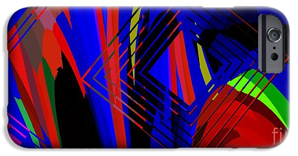 Transparency Geometric iPhone Cases - Abstract Geometric Art iPhone Case by Mario  Perez