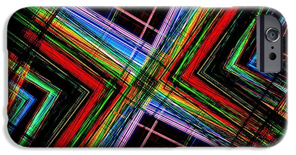 Transparency Geometric iPhone Cases - Abstract Geometry of Multi Color Design  iPhone Case by Mario  Perez