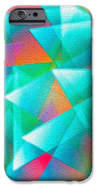Abstract Geometry of Triangles in Digital Art iPhone Case by Mario  Perez