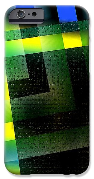 Abstract Geometry with Effects and transparency iPhone Case by Mario  Perez