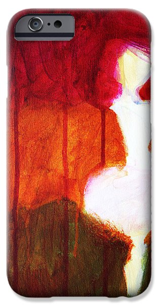 Hallucination iPhone Cases - Abstract Ghost Figure No. 2 iPhone Case by Nancy Merkle