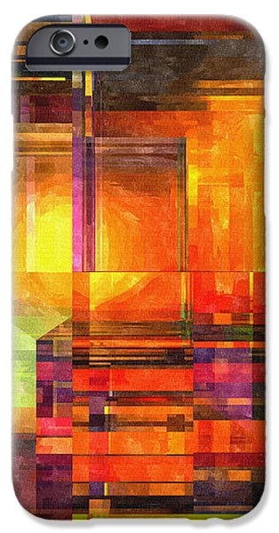 Abstract Glass - 19052013 - AMCG iPhone Case by Michael C Geraghty